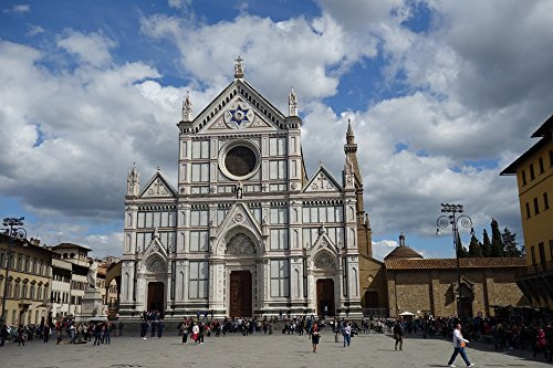 Home Comforts Peel-n-Stick Poster of Italy Florence Architecture Church Santa Croce Poster 24x16 Adhesive Sticker Poster Print