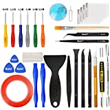 Kaisi 30 in 1 Professional Electronics Screen Opening Pry Tool Repair Kit with Steel and Carbon Fiber Nylon Spudgers, Double Side Adhesive Tape and 6 Screwdrivers for Open Cellphone, Laptops, Tablets