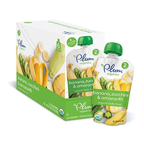 Plum Organics Stage 2, Organic Baby Food, Banana, Zucchin...