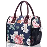 Lunch Bag for Women, TianQin WY Insulated Large Lunch Bag with Wide Opening