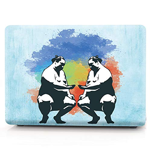 MacBook Pro 15 Case 2018 2017 2016 Release A1990/A1707 Case,Hard Plastic Protective Case Soft-Touch For Macbook Pro 15'' (2018/2017/2016) with Touch Bar and Touch ID - Abstract sumo by Sunway