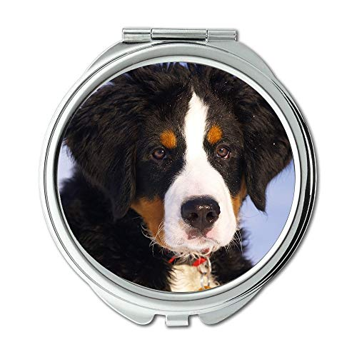 Yanteng Mirror,Travel Mirror,Bernese Mountain Dog Puppy Animal Dog Canine Pet,Pocket Mirror,Portable Mirror