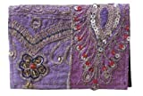 Recyled Sari Business and Credit Card Holder Handmade Each One Unique – Certified Fair Trade (Fuchsia), Bags Central