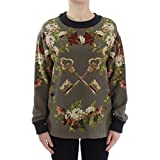 Product review for Dolce & Gabbana Green Key Floral Print Silk Sweater