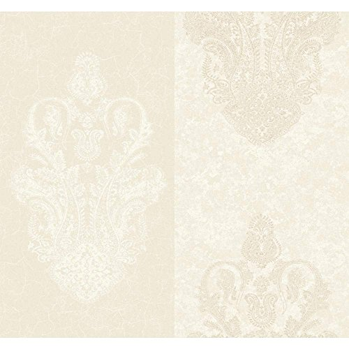 Cream CC9550 Glendale Paisley Wallpaper