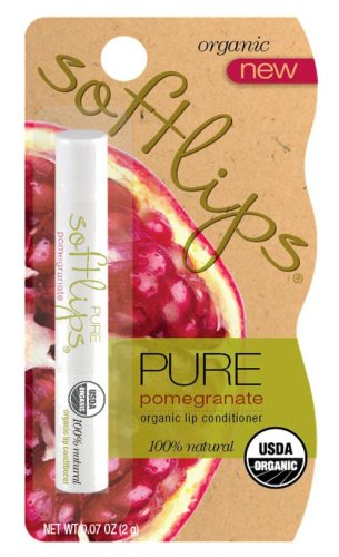 Softlips Organic Lip Conditioner, Pure Pomegranate, 0.07-Ounce Package (Pack of 6)