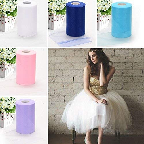 Party Supplies Adeeing Tulle Bolt Roll Spool 6x200Yards 600FT for Wedding Party Decoration
