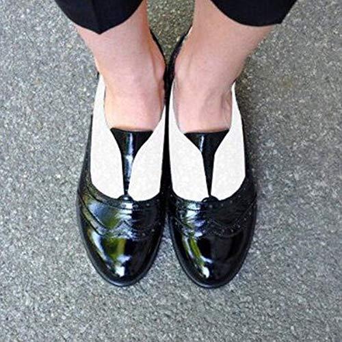 Punta Lacci Prime Heel Piatto Shoes Tinta Moda Unita Single Pelle Somesun All'usura Senza Donne Nero Carina Stivaletti Caldo Fondo Resistente Rotonda Basse Scarpe Antiscivolo In Calzature Haqwz1E