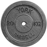 York Fitness 20kg Single Standard Cast Iron Disc