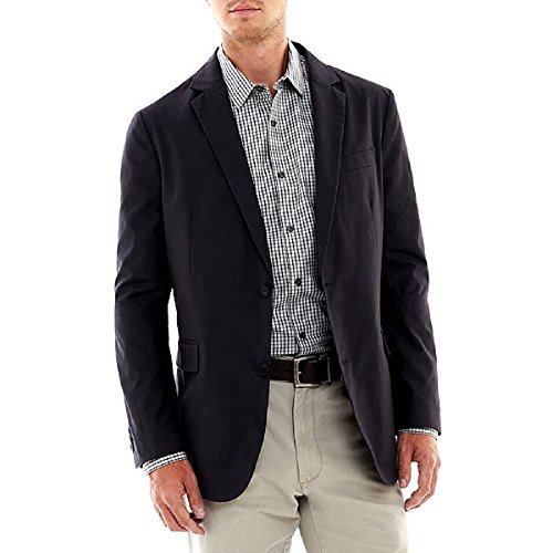 Liz Claiborne Mens Claiborne Galaxy Grey Button-Front Bla...