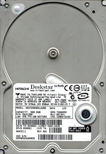 BA1541 500GB 0A31300 MLC Hitachi HDS725050KLA360 P//N