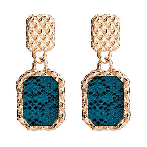 - Wansan Earrings Geometric Multi-Layer Serpentine Dangle Bohemian Ethnic Vintage Hanging Rope Earring for Women Girls Birthday Gifts Valentine Gift