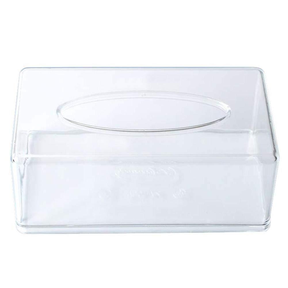 Oficina de acr/ílico servilletas para Coche para el hogar pa/ñuelos faciales Sala de Estar Bar TRULIL Caja de Papel de Seda Rectangular Restaurante ba/ño Transparente