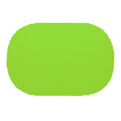 (Kraftware 37636 Fishnet Placemat Dz, Oval, Lime Green)