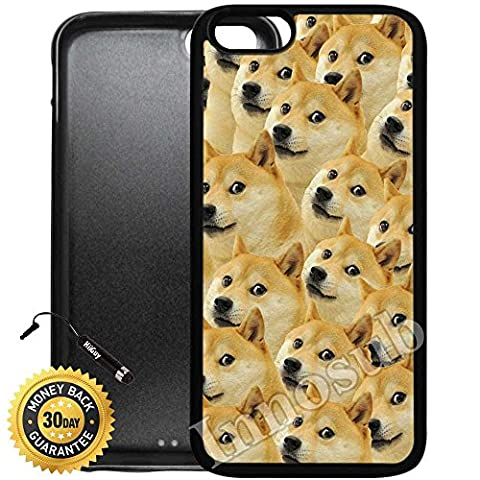 Custom iPhone 7 Plus Case (Mr Doge MEME) Edge-to-Edge Rubber Black Cover with Shock and Scratch Protection | Lightweight, Ultra-Slim | Includes Stylus Pen by (Doge Phone Cover)