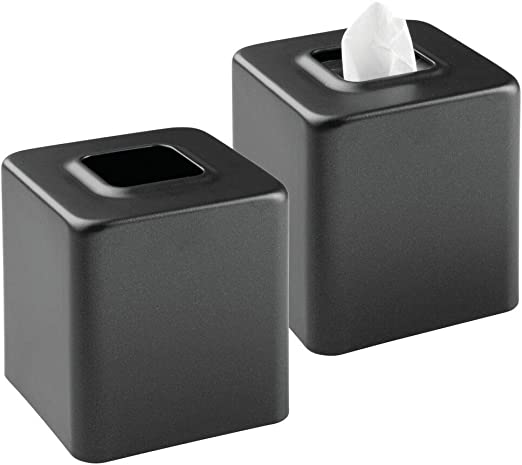 mDesign Juego de 2 cajas para pañuelos de papel – Caja para ...