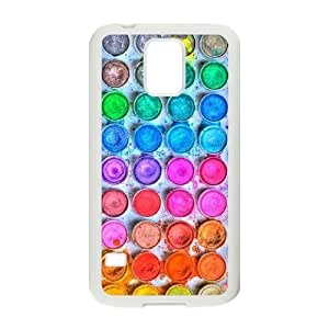 Diy Watercolor Palette Phone Case for samsung galaxy s5 White Shell Phone JFLIFE(TM) [Pattern-2]