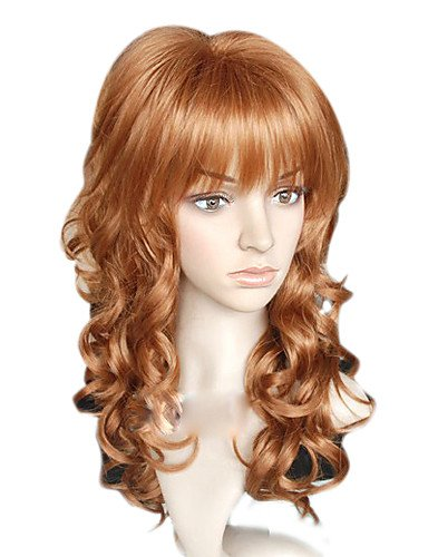 General quality amazing Special Capless Long Top Grade Quality Synthetic Flaxen Brown Curly Hair (Harley Quinn Costume Commission)