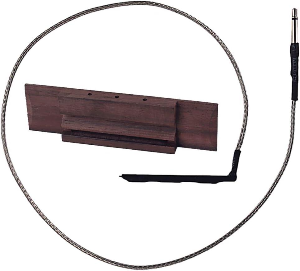 Guitarra De 3 Cuerdas De Madera De 90 Mm Debajo De La Silla Pastilla De Puente Piezoeléctrico