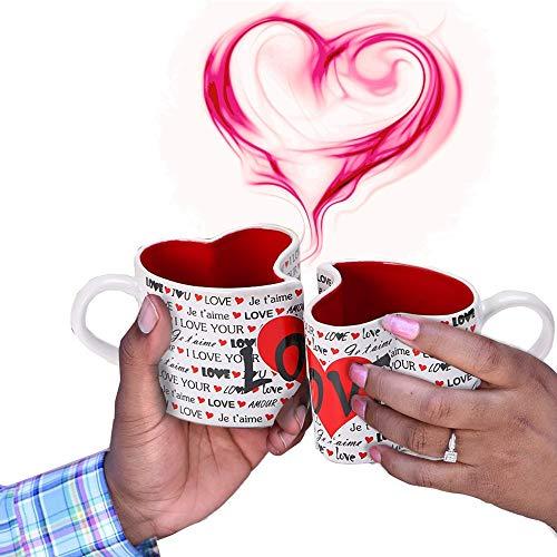 Coffee Mugs Ceramic 11 oz Funny Coffee Mug Heart Design Gift for Men & Women Who Love Tea Mugs & Coffee Cups Beast Romantic Gift for Wedding Anniversary Girlfriend Wife Couples valentines day gift
