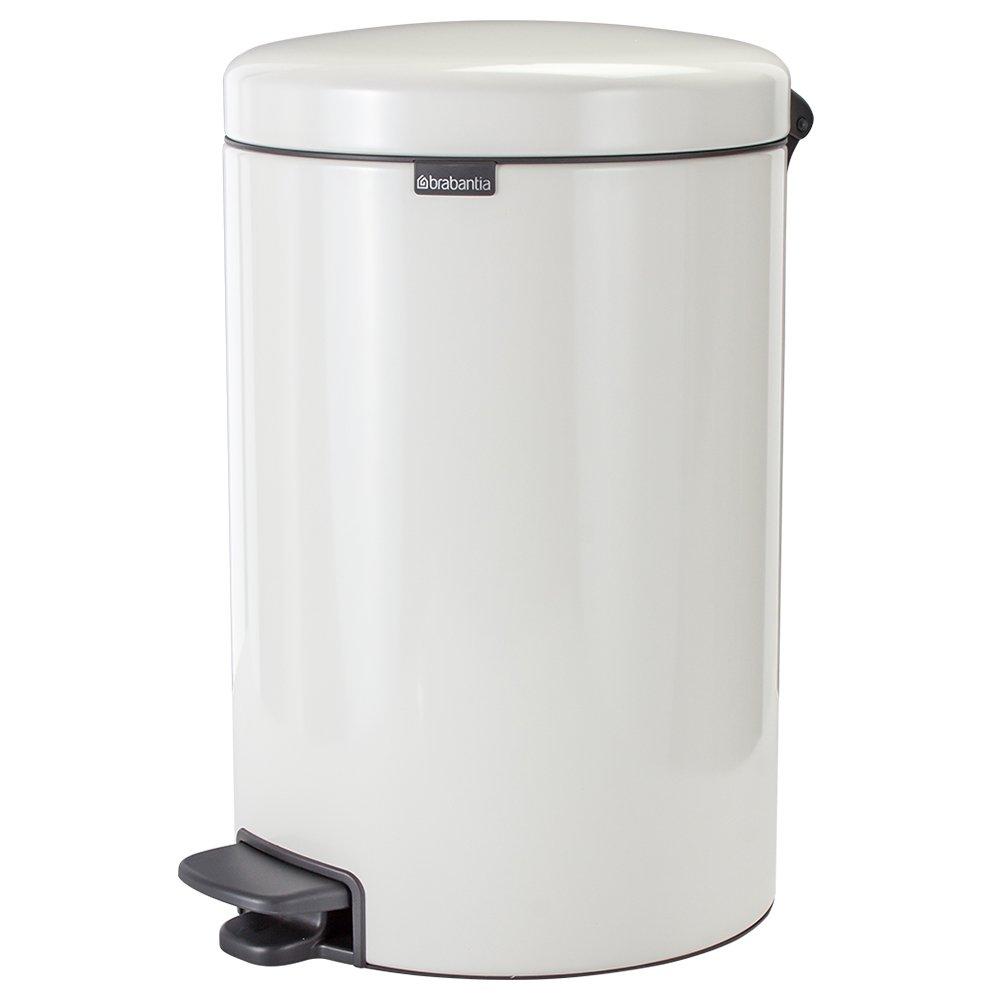 [ ブラバンシア ] Brabantia ゴミ箱 12L ペダルビン ソフトクロージング ペダル式 ニューアイコン 11 19 69 ホワイト Pedal Bin newIcon, Plastic Inner Bucket, 12 Litres white インテリア ダストボックス [並行輸入品] B0756DKNZGホワイト