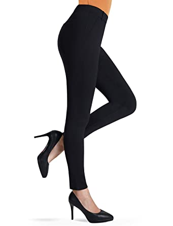 fb16f9162 Bamans Women s Ultra Stretch Comfy Non See-Through Chic Pull-On Skinny Pants