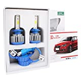 Headlights Bulb,DBTECH 2 Pack Replacement Lamp H7 Xenon LED Car Lights Auto Front