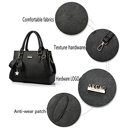 Leather Blue Handbags PU Black Bags Fashion Sky Women's Stylish Shoulder aWtOR1gxqw
