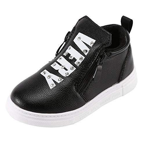 De Terciopelo Zapatos Yanhoo Infantiles Letra Doble Botas Niños Cálido Para Negro Cristal Invierno Más Sport Zapatillas Cálidas Running Con Diamantes Cremallera vwwP1Aqxd
