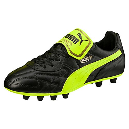 PUMA KING TOP ITALIAN FIRM GROUND - botas de fútbol schwarz / neongelb