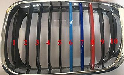 11 Grille Pour 3 Series E46 318i 320i 325i 330i 335i 2002-2005 M Couleur Garniture Avant de Calandre Compatible Avec Ins/érez Garniture Couverture Grill 3Pi/èces