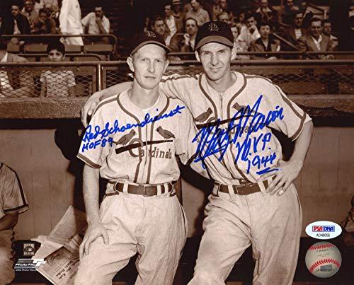 Red Schoendienst Marty Marion Dual Autographed Signed PSA/DNA 8x10 Photo Auto Autograph ()