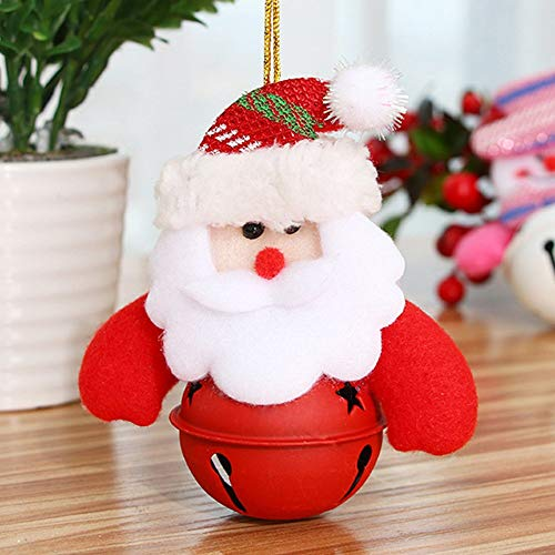 Christmas Bells - 8pcs Christmas Bell Decoration Ornaments Santa Claus Snowman Pattern Doll Xmas - Flag In Book Diy Dogs Colored Plastic Rubber Giant Jubilee