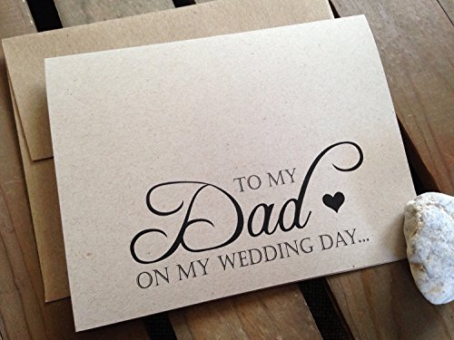 to-my-dad-on-my-wedding-day-note-card-kraft-brown-rustic-recycled-eco-friendly