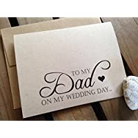To My DAD on my WEDDING Day - Note Card - Kraft Brown - RUSTIC - Recycled - Eco Friendly