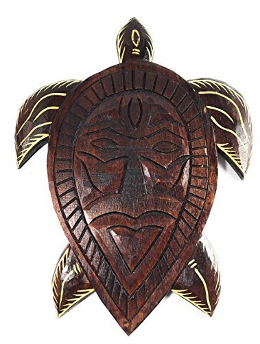 Primitive Tribal Turtle Tiki Mask 12