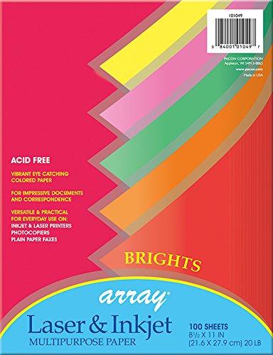 - Pacon 101049 Multi-Purpose Paper, Multicolor