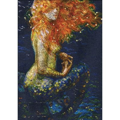 Red Mermaid Counted Cross Stitch Kit-10