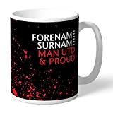 Personalized Official Manchester United FC Proud Mug - FREE PERSONALISATION