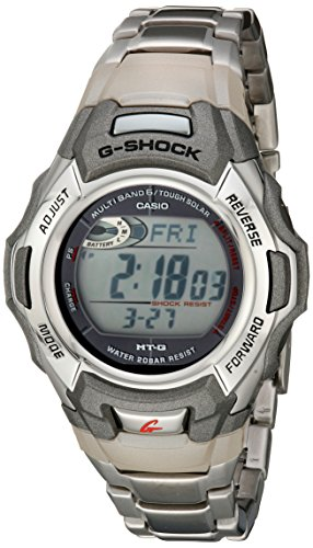 G-Shock MTGM900DA-8CR Men's Tough Solar Atomic Stainless Steel Sport Watch (Stainless Steel Watch Solar)