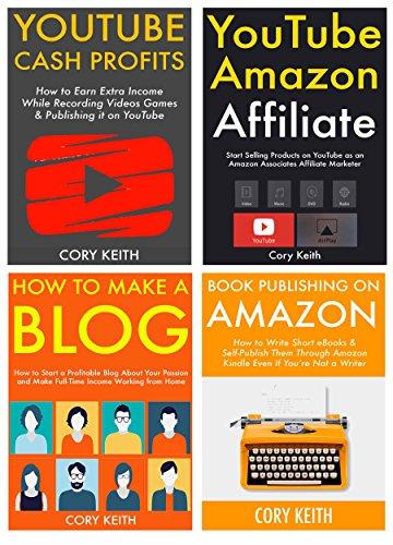Ways to Make Money Online: 4 Different Internet Business Ideas. Blogging, Book Publishing, Amazon Associate & YouTube Marketing.