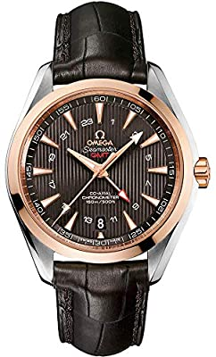 Omega Aqua Terra Grey Dial Brown Alligator Mens Watch 23123432206001 from Omega