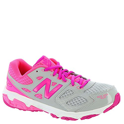 New Balance KR680 Youth Running Shoe (Little Kid/Big Kid),Grey/Pink,12.5 M US Little Kid