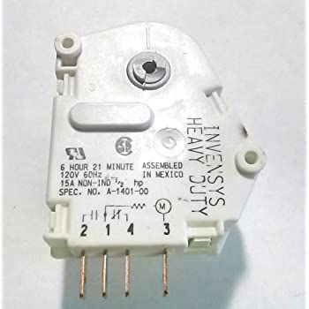 amazon com frigidaire 216744500 defrost timer for refrigerator new genuine heavy duty replacement whirlpool kenmore tag kitchenaid roper refrigerator defrost timer part 4391974