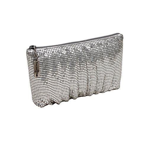 whiting-davis-womens-shirred-clutch-silver-one-size