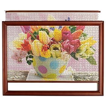 Amazon Com Masterpieces Wood Jigsaw Puzzle Frame 19 1 4
