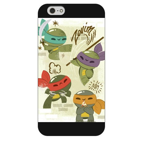 UniqueBox Customized Black Frosted Teenage Mutant Ninja Turtles(TMNT) iPhone 6 4.7 Case, Only fit iPhone 6(4.7 Inch)