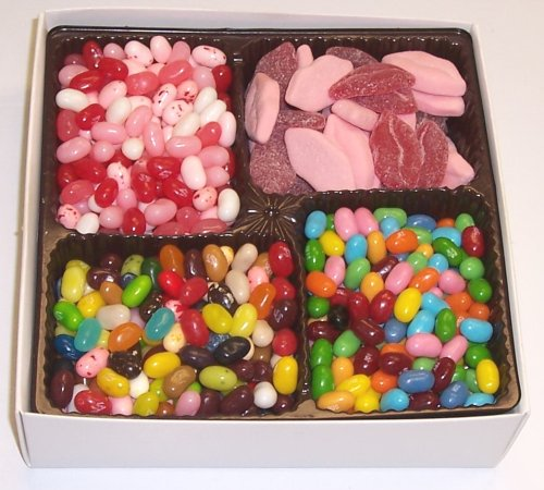 Scott's Cakes Large 4-Pack Smoochie Lips, Valentine Beans, Conversation Beans, & Assorted Jelly Beans