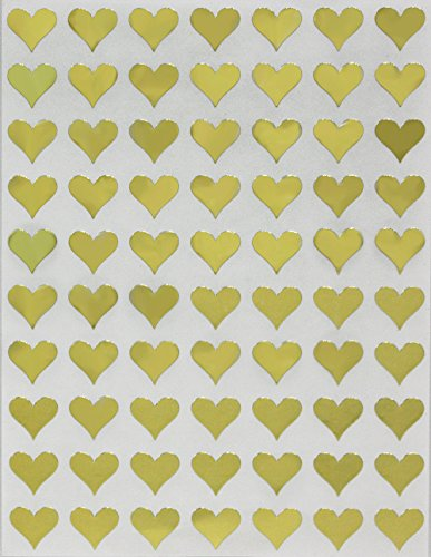Heart Shape Adhesive Label 13mm (1/2
