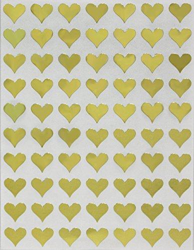 (Heart Shape Adhesive Label 13mm (1/2